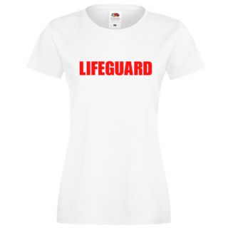 LADIES LIFEGUARD FITTED WHITE T-SHIRT